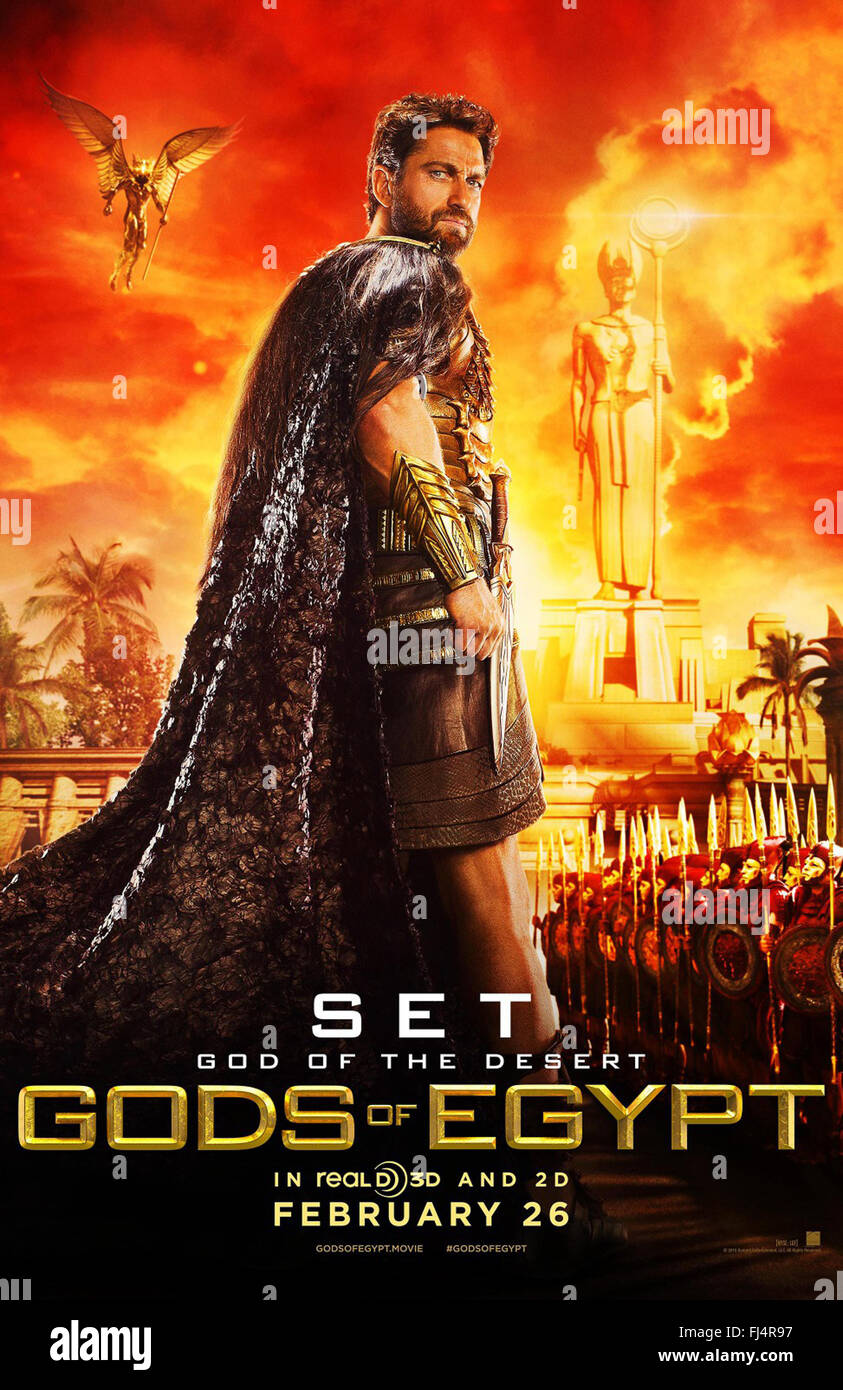 GODS OF EGYPT (2016)  GERARD BUTLER  ALEX PROYAS (DIR)  MOVIESTORE COLLECTION LTD - Stock Image