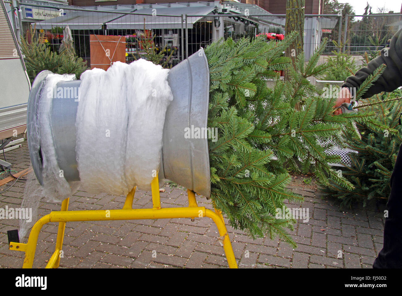 Christmas Tree Netting Machine Germany Stock Photo 97225774 Alamy