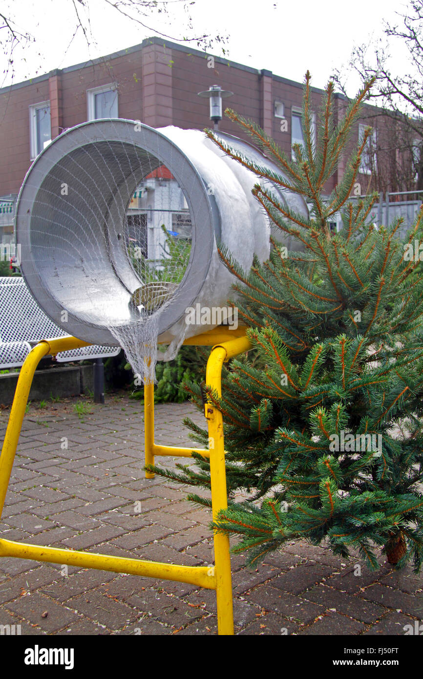 Christmas Tree Netting Machine Germany Stock Photo 97225852 Alamy
