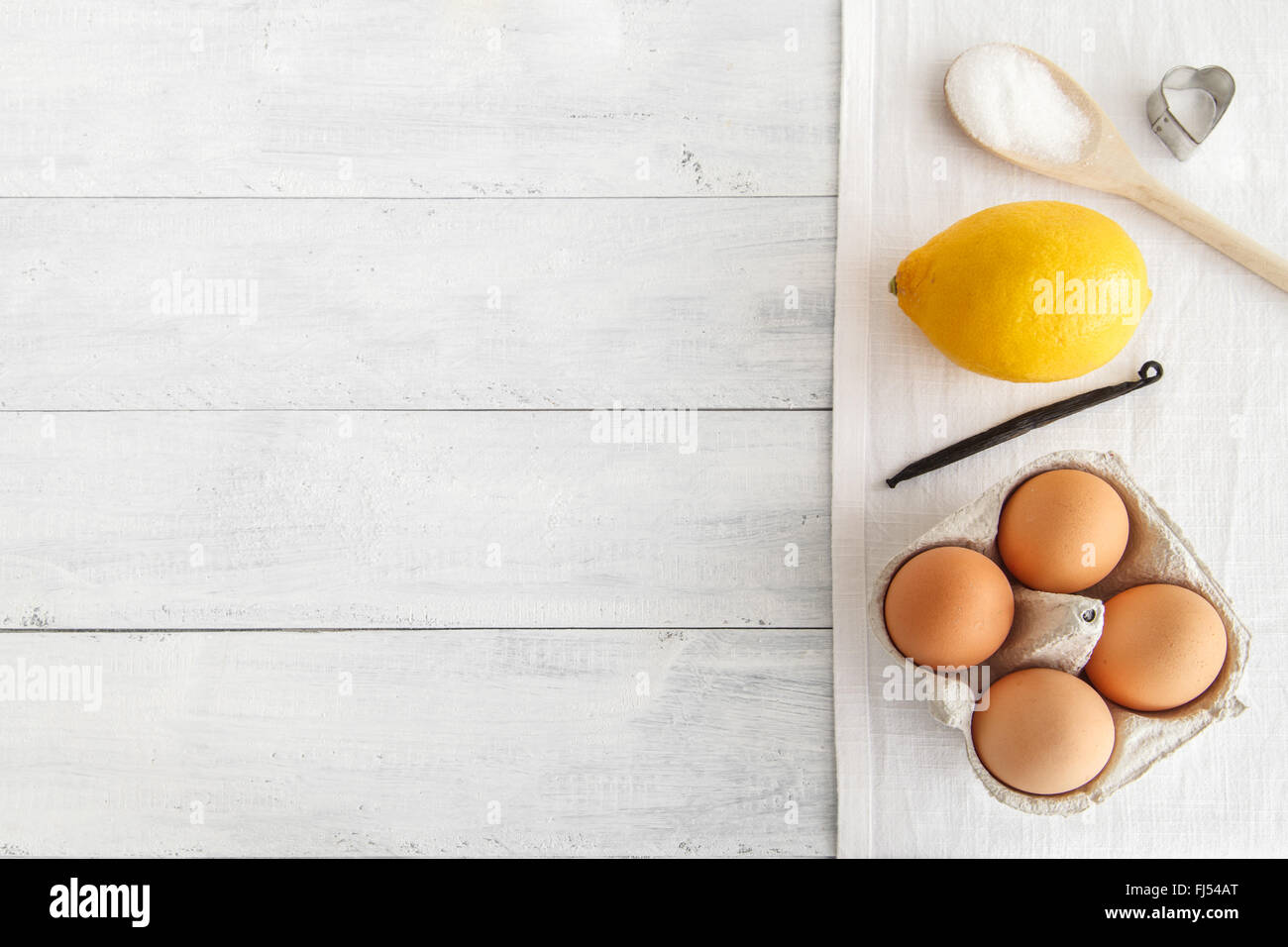 Baking flat lay - Stock Image