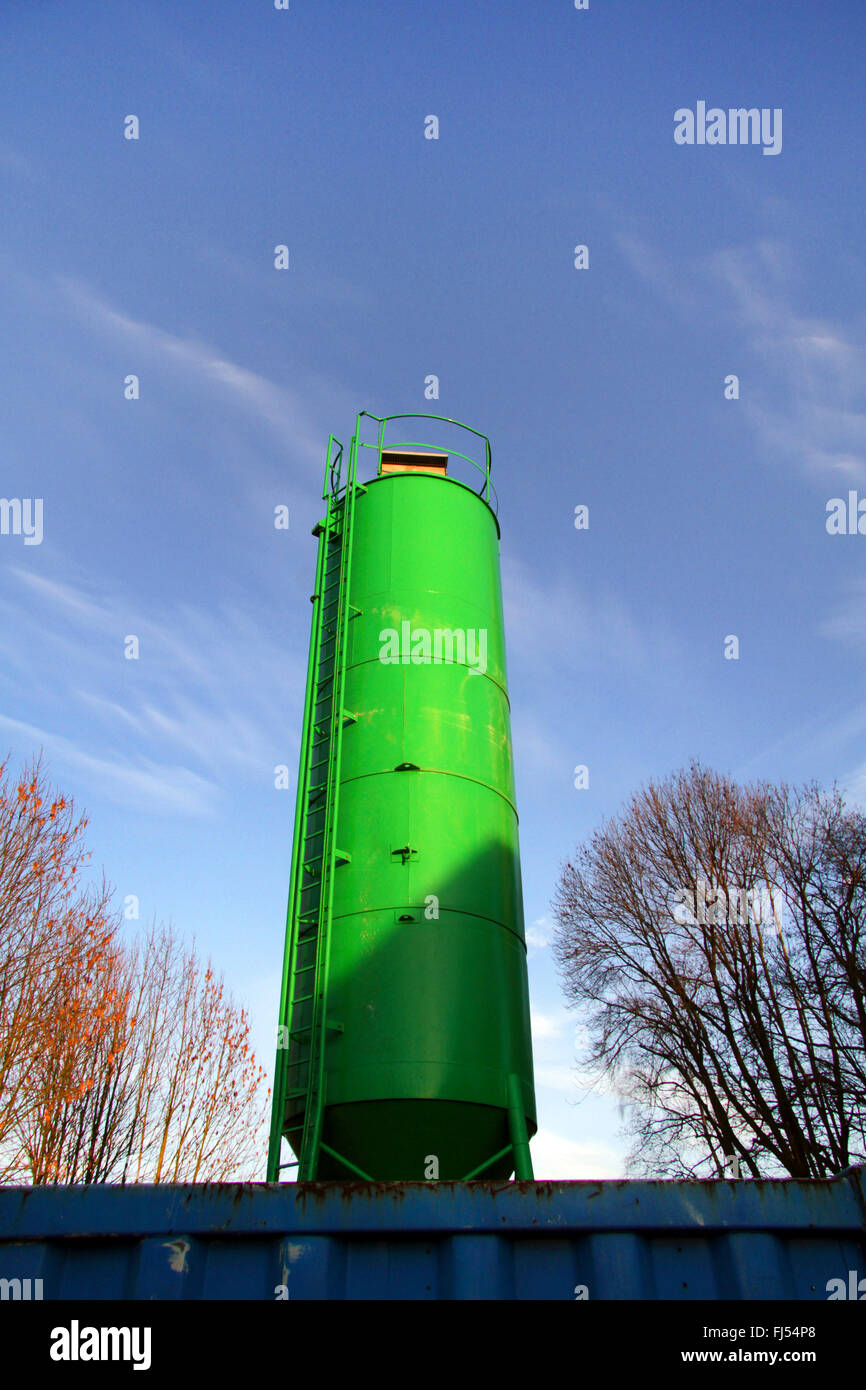 concrete silo for filling up cavities, Germany - Stock Image