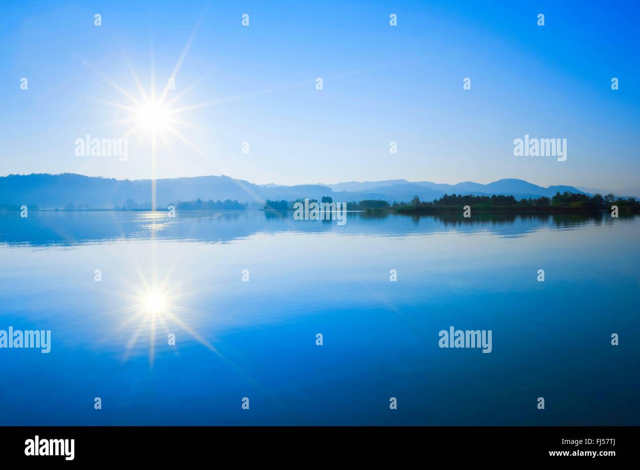 Lake Pfaeffikon, Switzerland, Zuercher Oberland, Auslikon - Stock Image