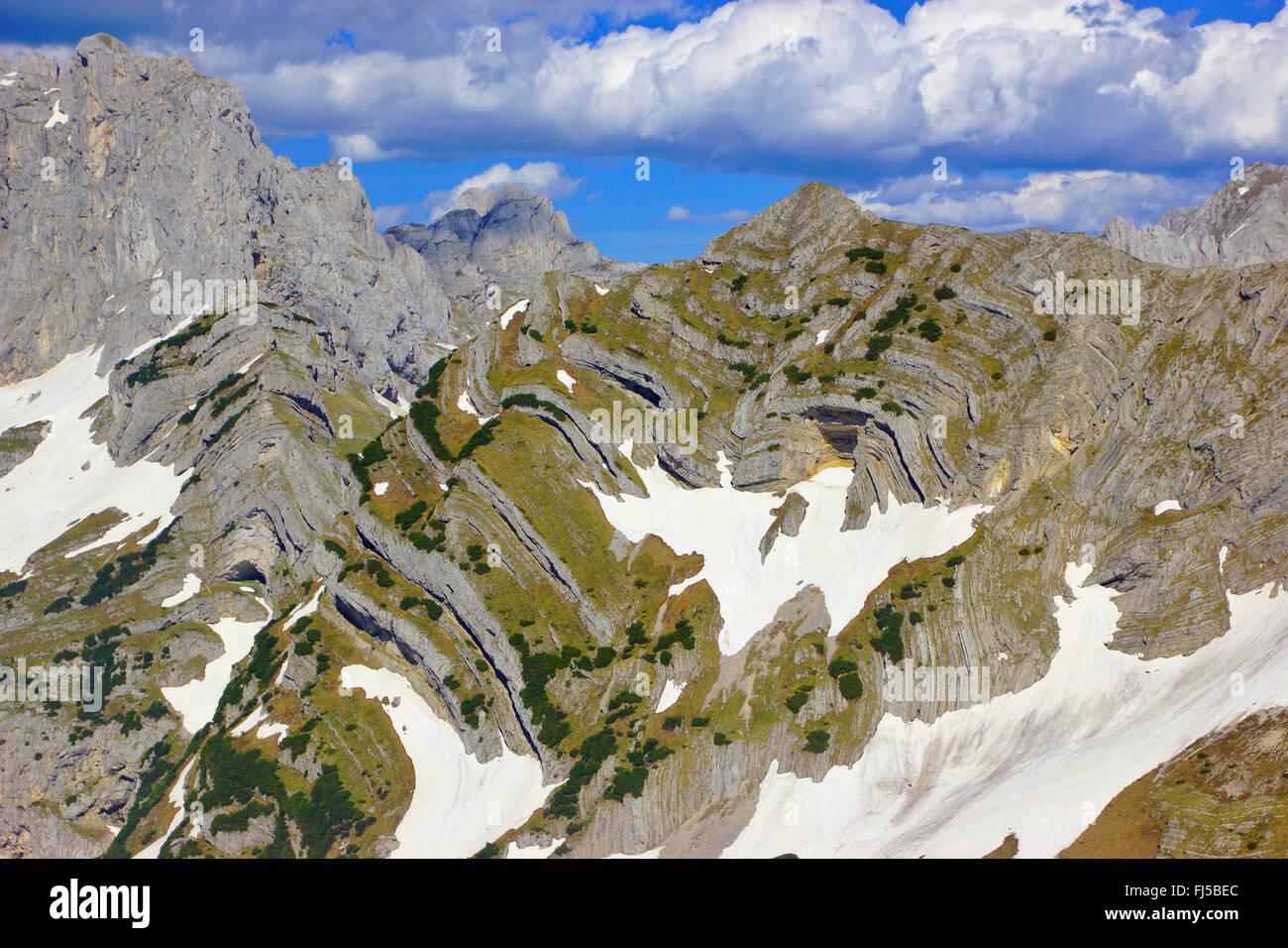 Bobotov Kuk and Stit from ascent to Prutas, Montenegro, Durmitor National Park - Stock Image