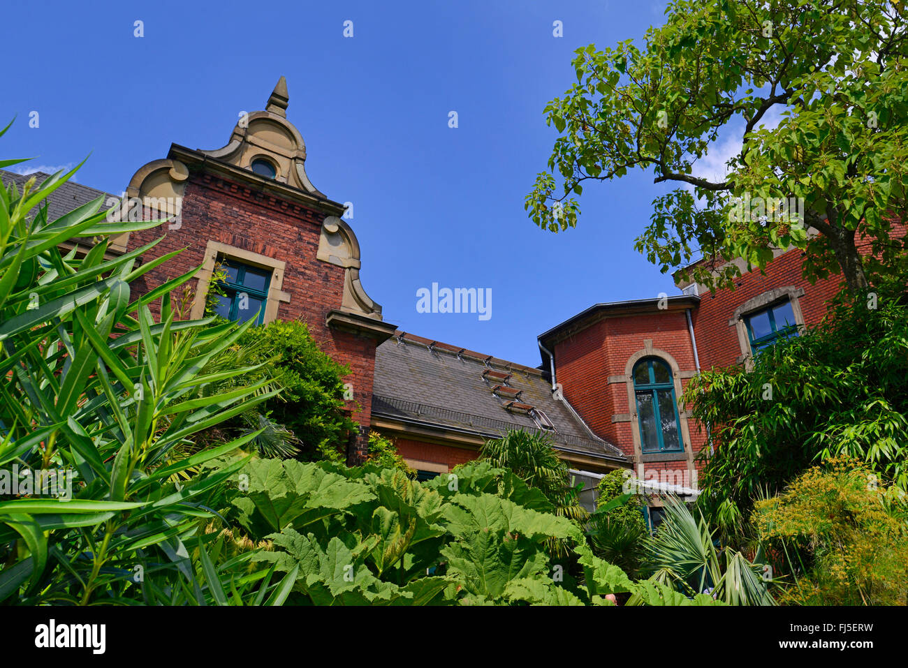 brick building; facade of the Eller�sche Villa at the Botanical Gardens Wuppertal, Germany, North Rhine-Westphalia, - Stock Image