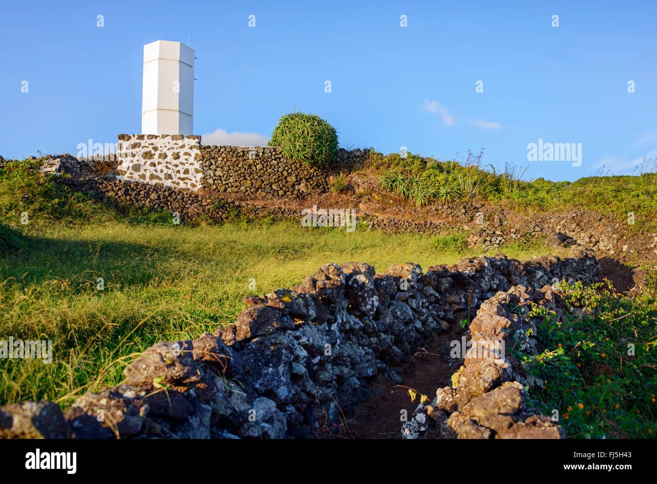 whale watch tower, Lajes do Pico, Pico, Azoren, Portugal / Ponta da Queimada, Portugal, Azores Stock Photo