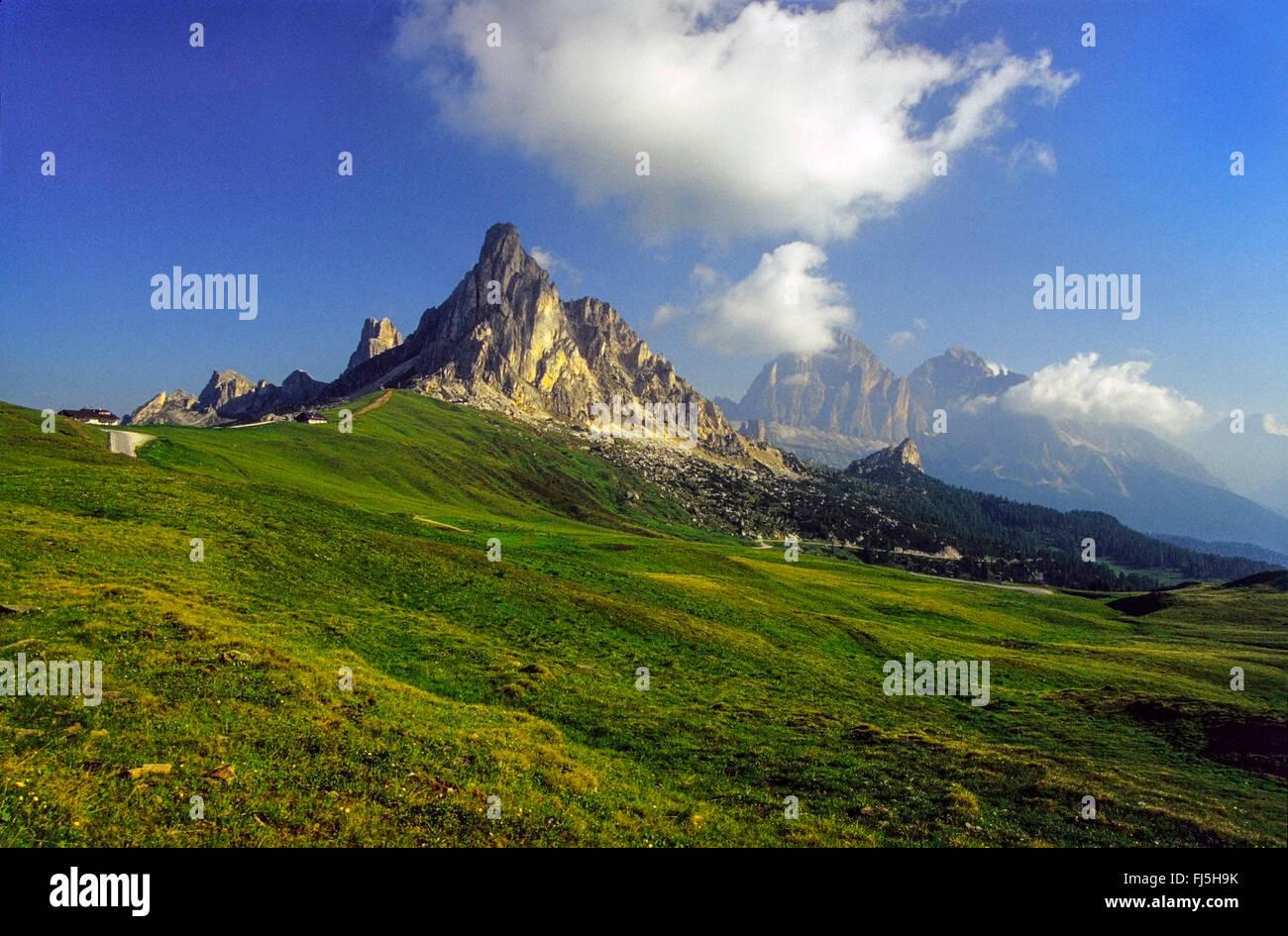 Giau Pass, Italy, South Tyrol, Dolomites - Stock Image