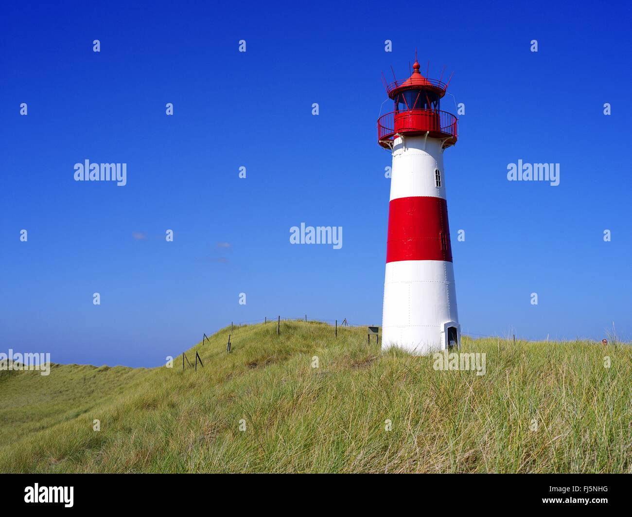 lighthouse of List Ost, Germany, Schleswig-Holstein, Sylt, List - Stock Image