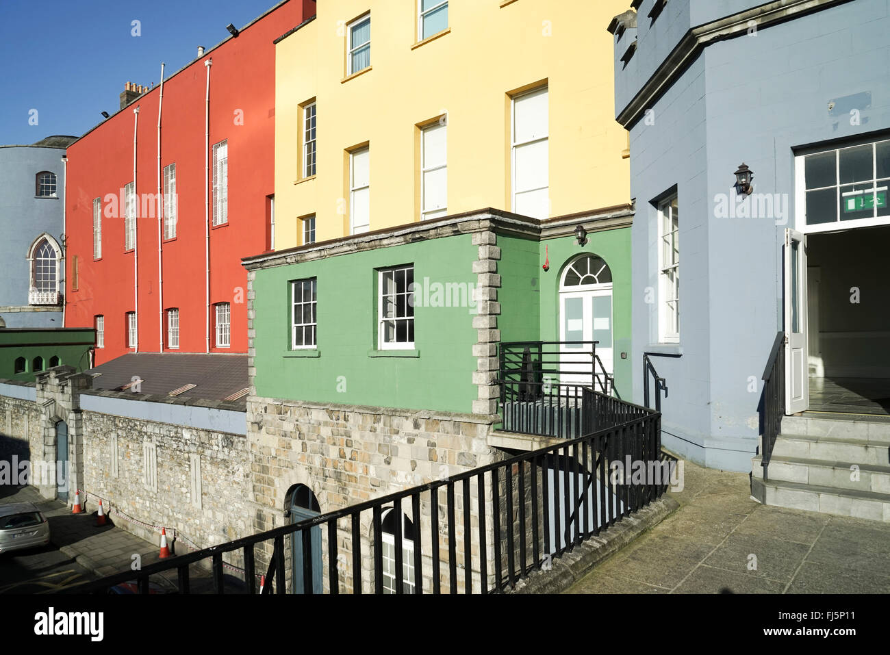 Colours of Dublin Castle -1 - Stock Image