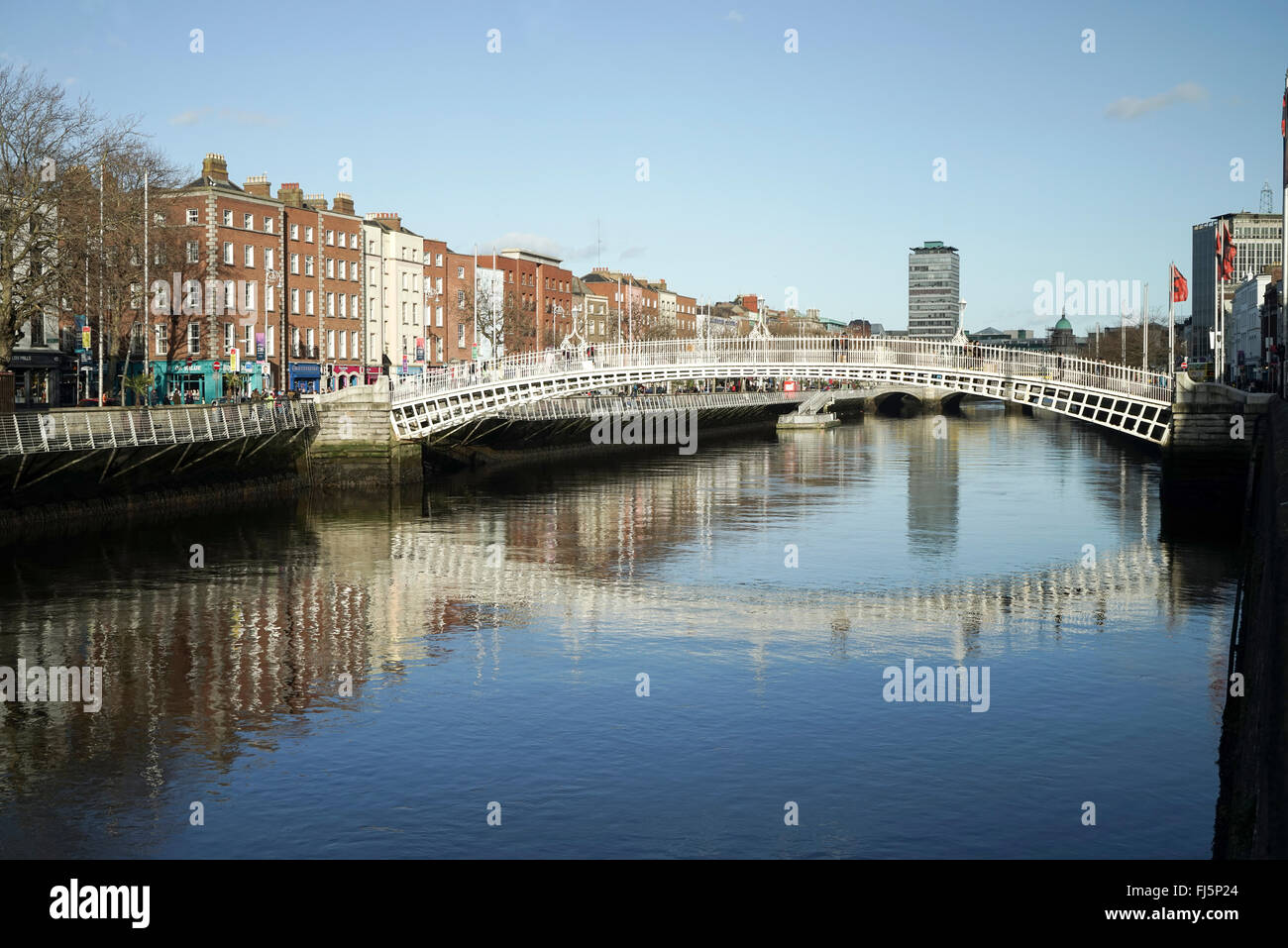 Ha'penny Bridge, Dublin, Ireland -1 - Stock Image