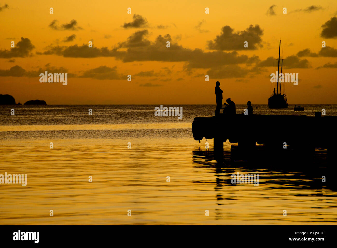 Harbour of Clifton at Union island, Saint Vincent and the Grenadines - Stock Image