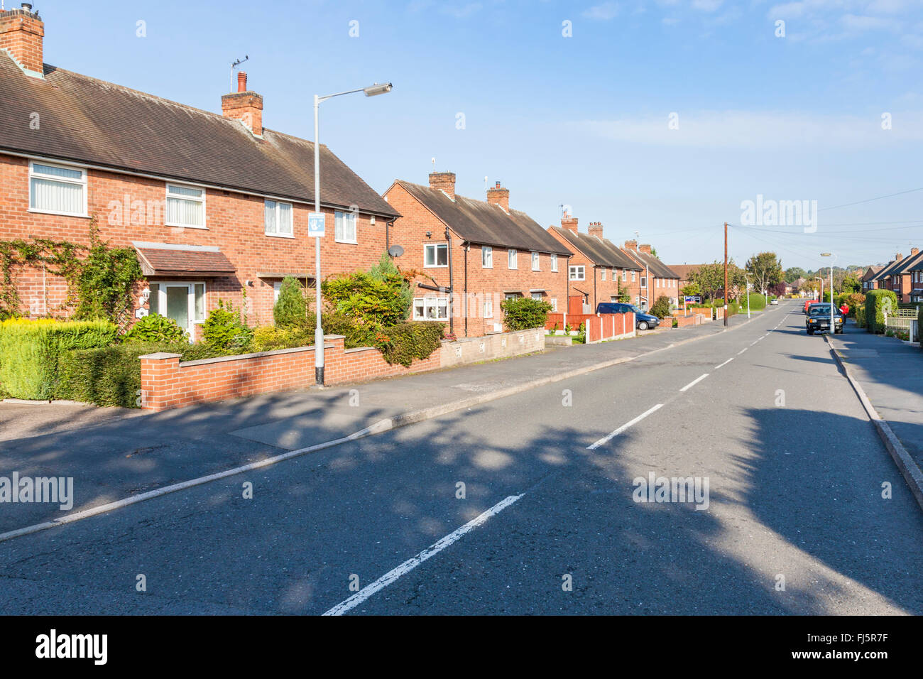 Housing on a typical 1950s Council estate in the village of Ruddington, Nottinghamshire, England, UK Stock Photo