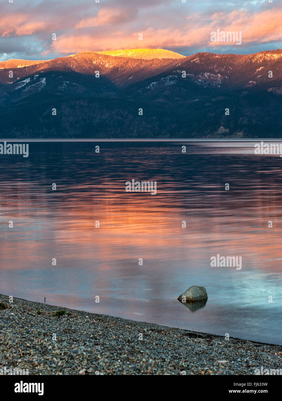 Pend Oreille Lake in north Idaho. - Stock Image