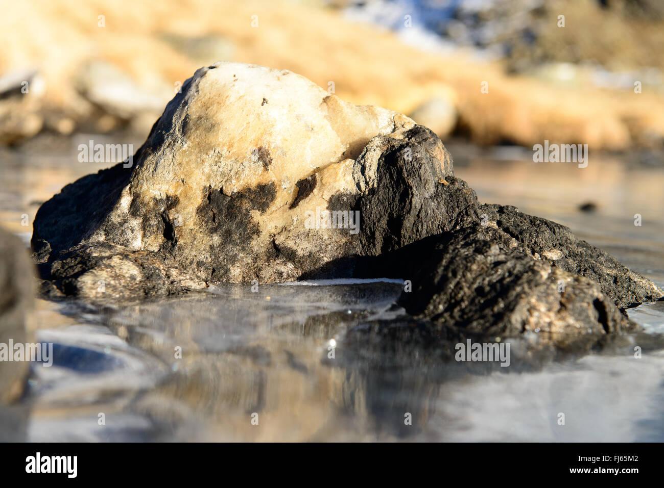 Gefrohrener Stein / frozen stone - Stock Image