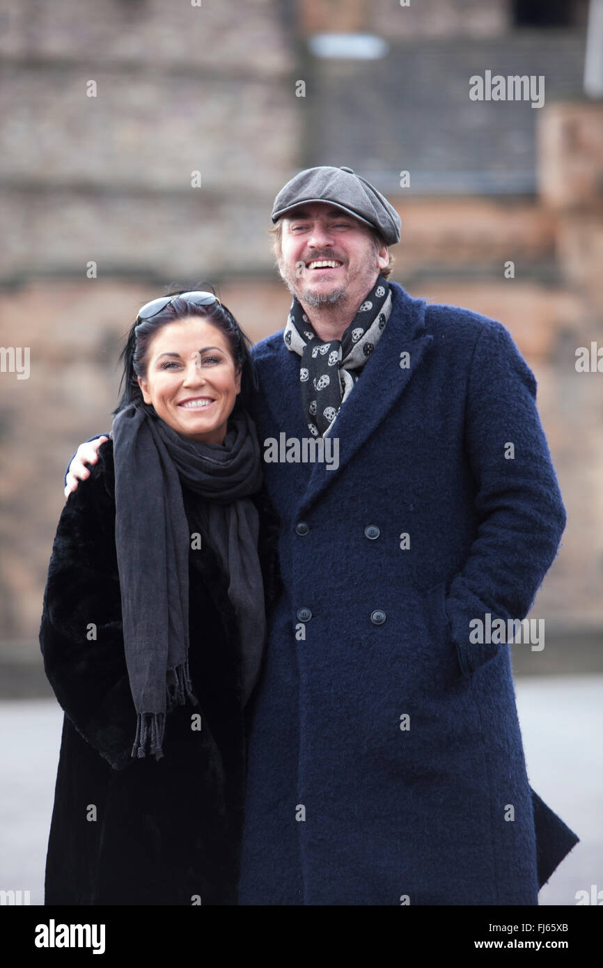 Edinburgh, Scotland. UK. 29 February. Jessie Wallace and Shane Richie of Eastenders fame photographed in the Edinburgh - Stock Image