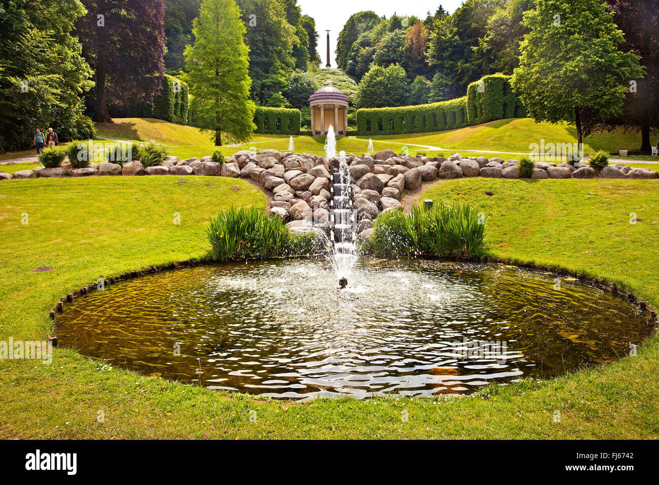 Neuer Tiergarten park, Germany, North Rhine-Westphalia, Lower Rhine, Cleves - Stock Image