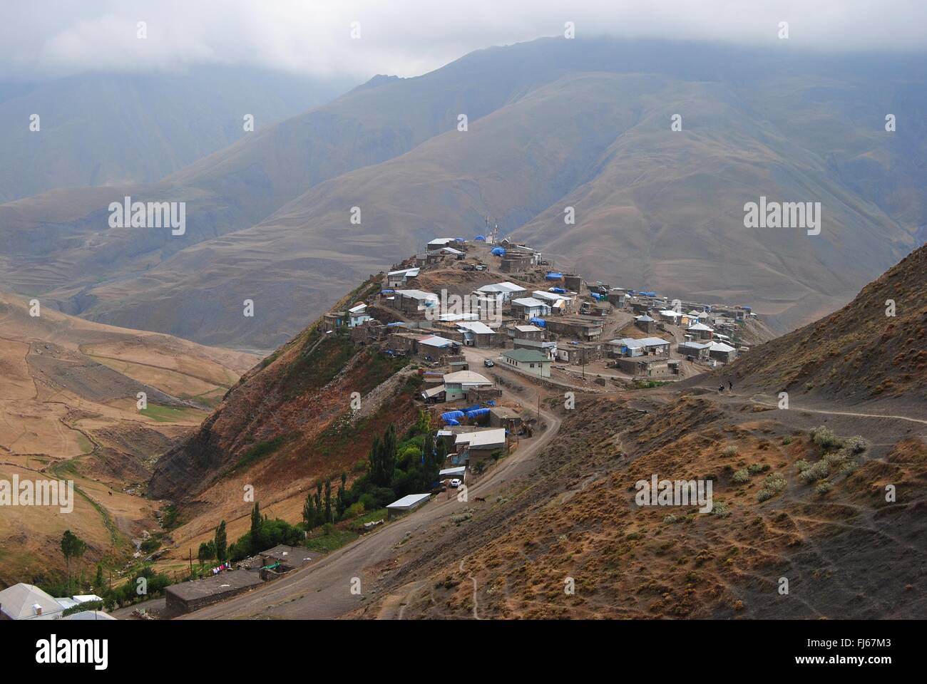 Xinaliq mountainous village in Azerbaijan Stock Photo