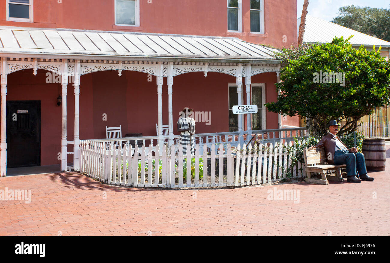 The Old St. Johns County Jail (also known as Authentic Old Jail) is the Historic jail in St. Augustine, Florida, - Stock Image