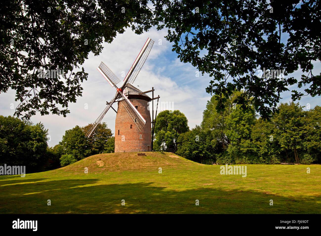 Geis Mill in Krefeld, Germany, North Rhine-Westphalia, Lower Rhine, Krefeld - Stock Image