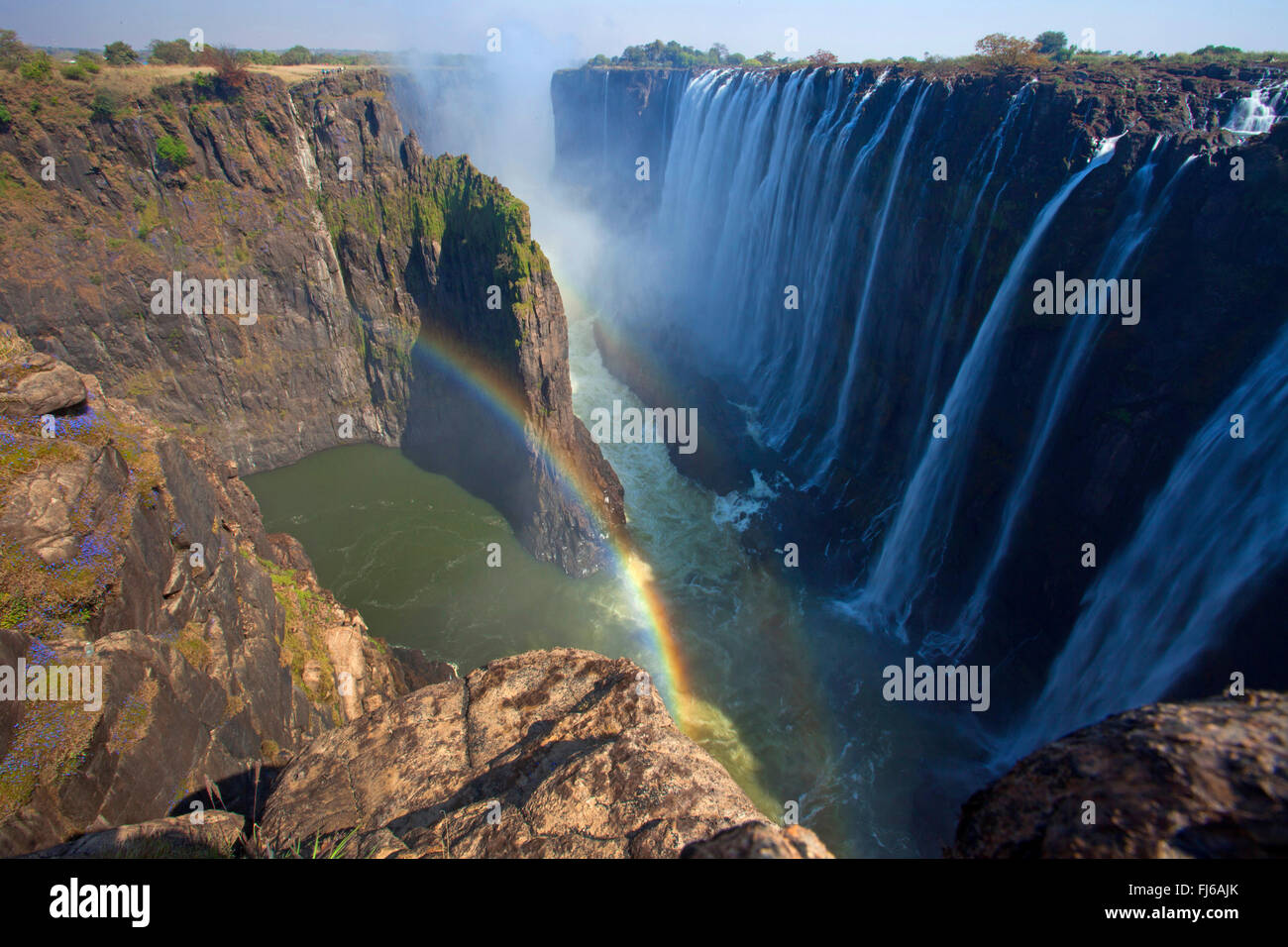 Victoria Falls, World Nature Heritage, Zambia, Victoria Falls National Park - Stock Image
