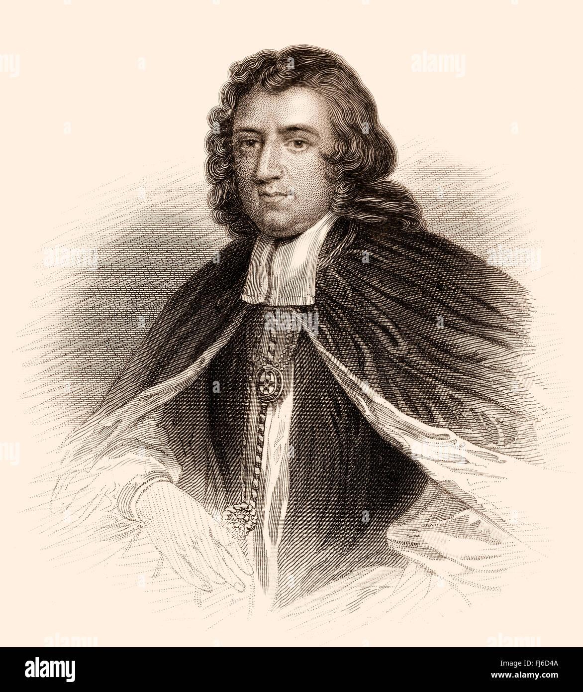 Gilbert Burnet, 1643-1715, a Scottish philosopher and historian, Bishop of Salisbury - Stock Image