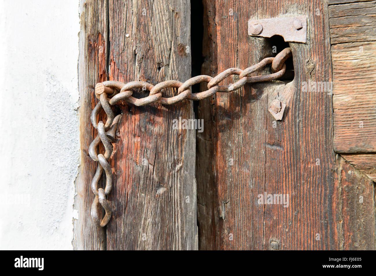Antikes Türschloss   ancient door lock - Stock Image