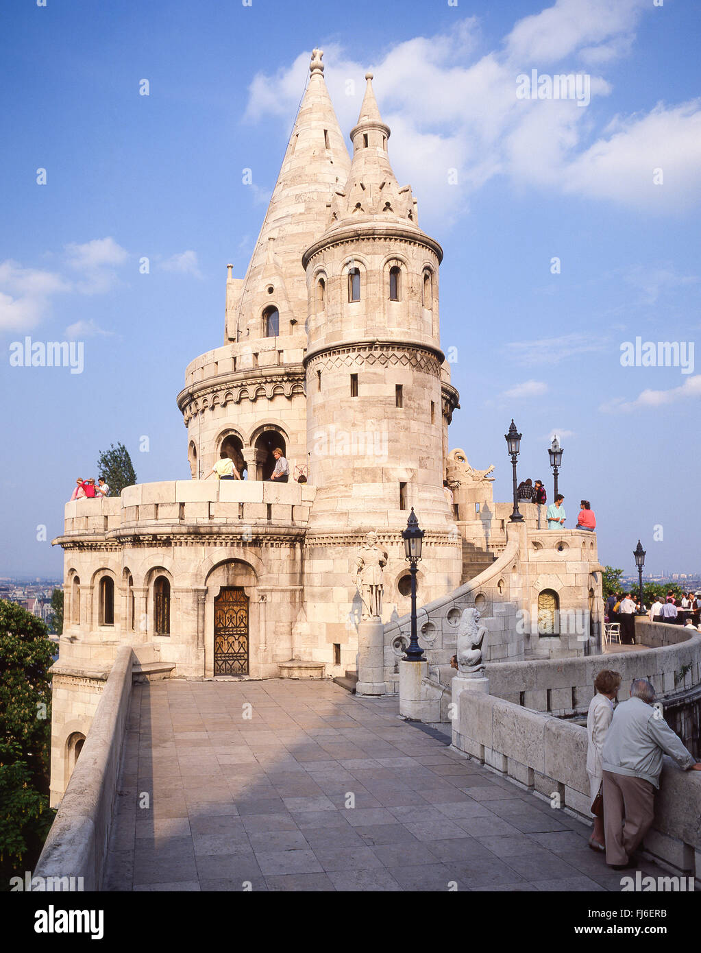 Fisherman's Bastion (Halászbástya), Castle Hill, The Castle District, Buda District, Budapest, Republic - Stock Image