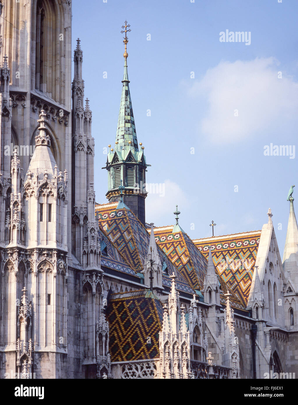 14th century Matthias Church (Mátyás Templom), Szentháromság tér, The Castle District, - Stock Image