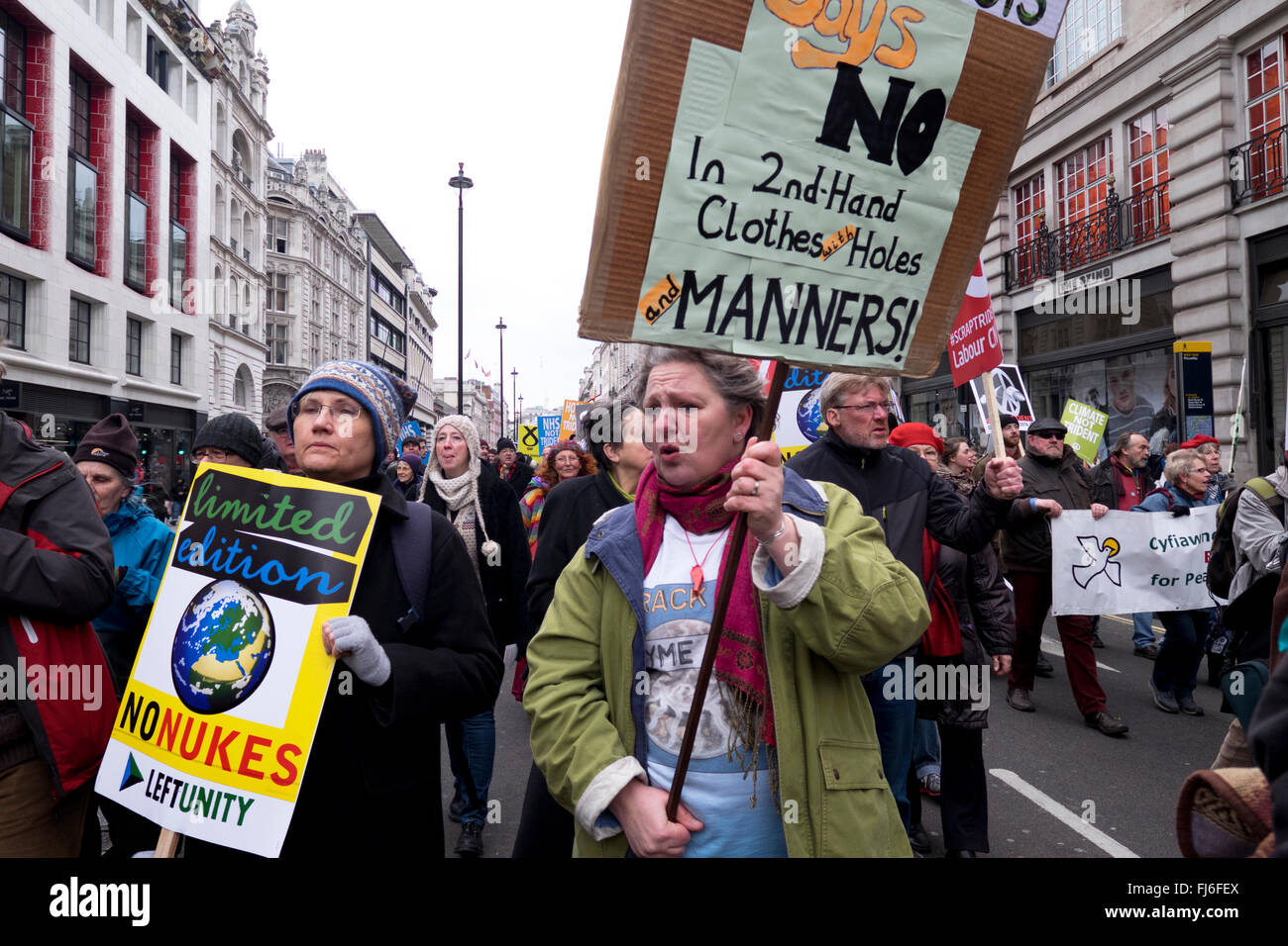 Vivienne Westwood joins anti-nuclear march