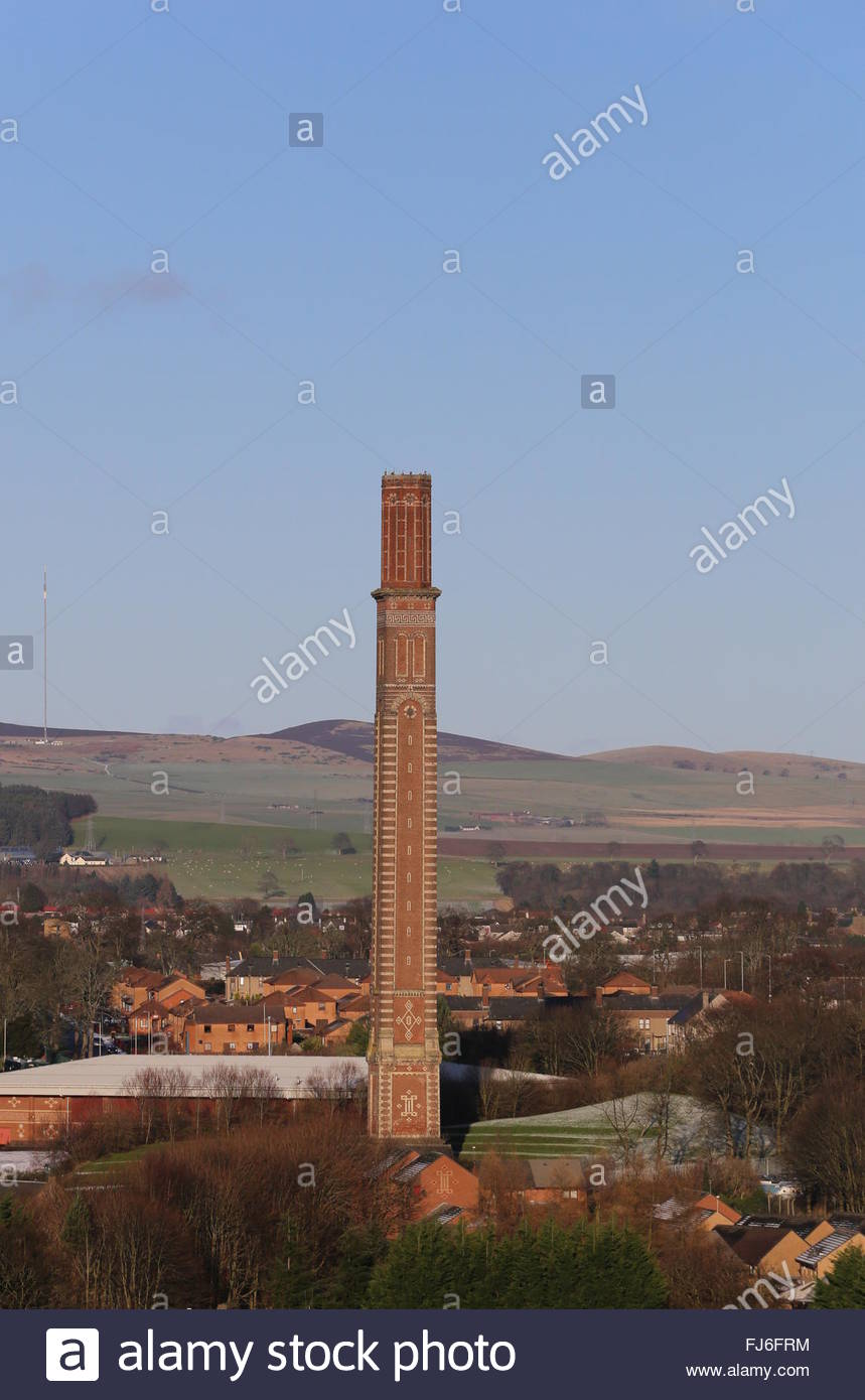 Cox's stack chimney Lochee Dundee Scotland  January 2016 - Stock Image