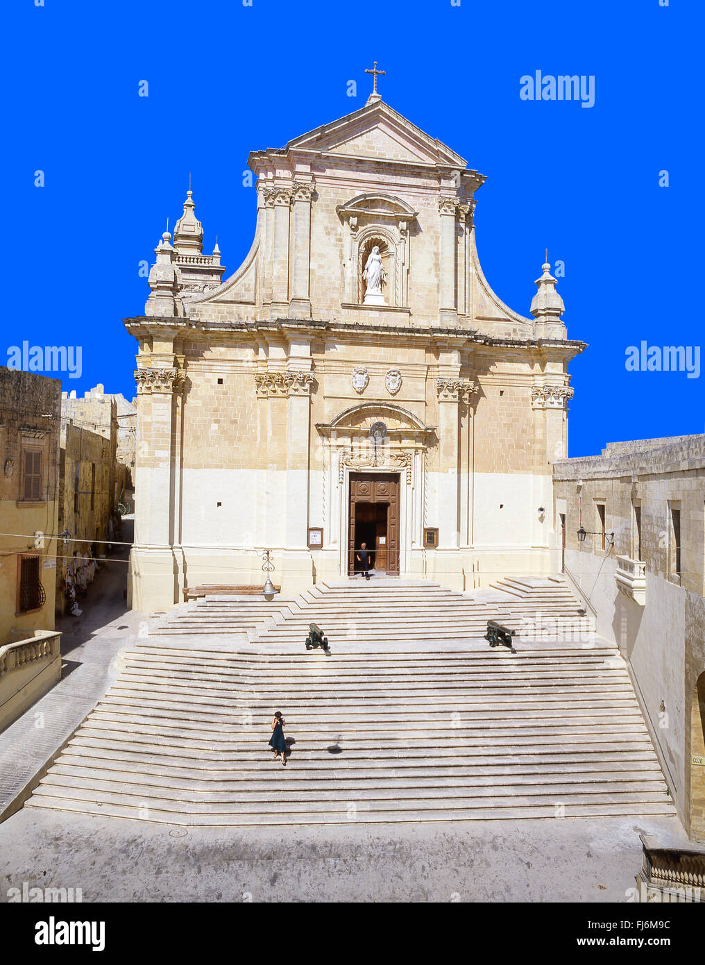 The Cathedral of Assumption, The Citadella, Città Victoria, Gozo (Għawdex), Gozo Region, Republic of Malta - Stock Image