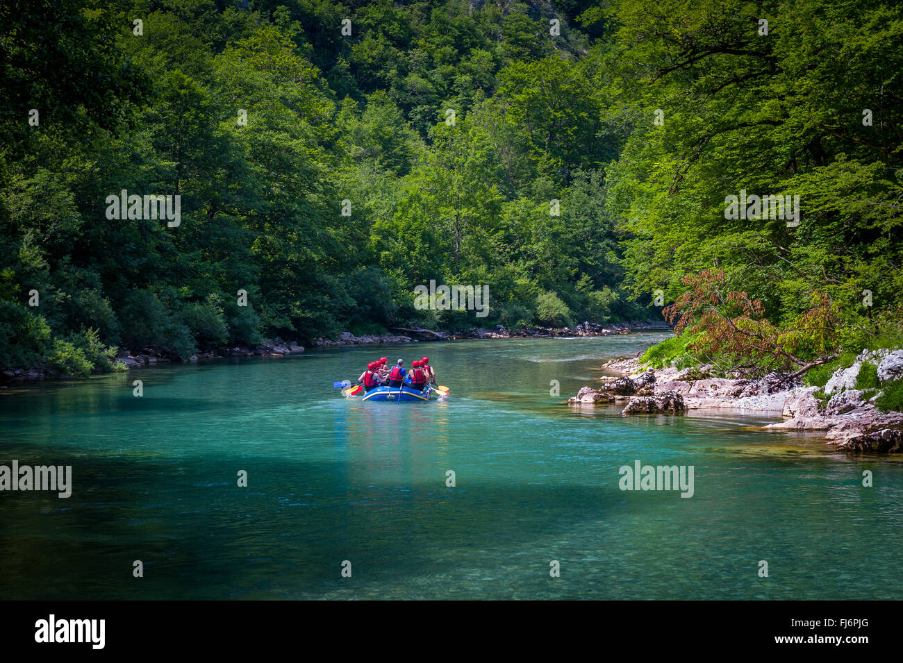 Tara's river rafting in Montenegro - Stock Image