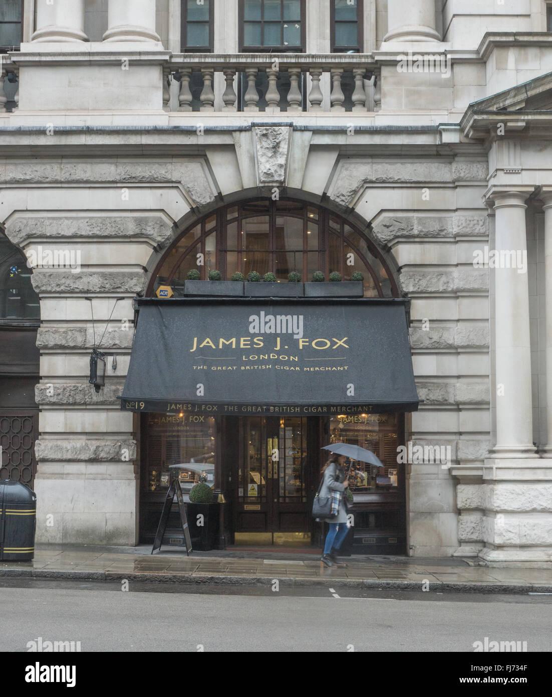 James Fox Cigar Merchant  St James London - Stock Image