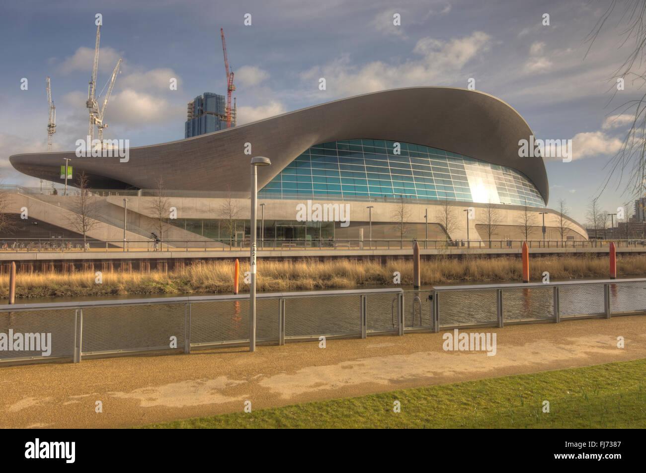 The London Aquatics Centre swimming pools  Olympic Park Stratford, - Stock Image