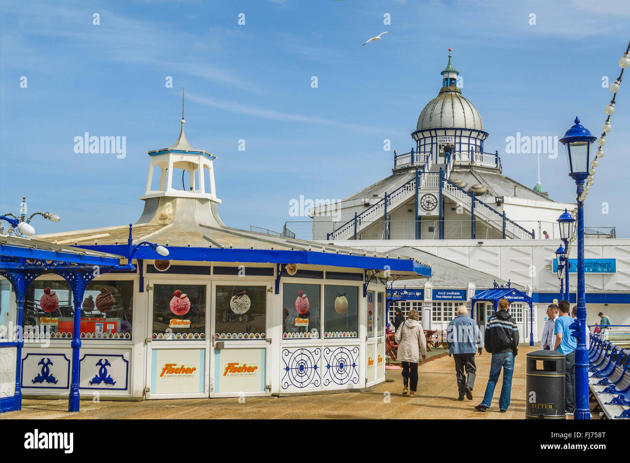 Historical Eastbourne Pier in East Sussex, South England | Historische Pier von  Eastbourne, East Sussex, Suedengland Stock Photo