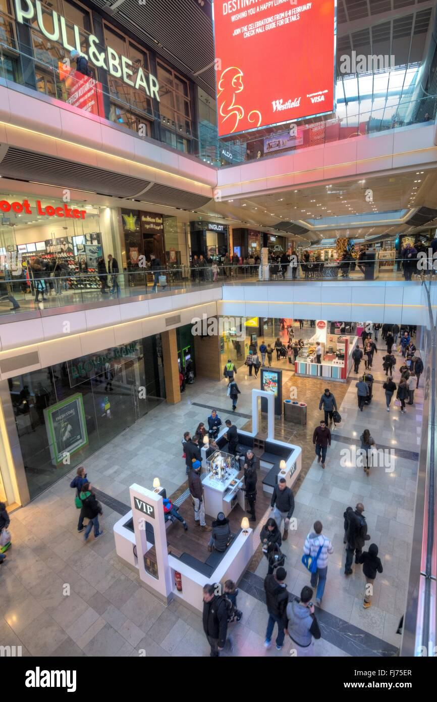 Westfield Shopping Centre, Stratford. - Stock Image