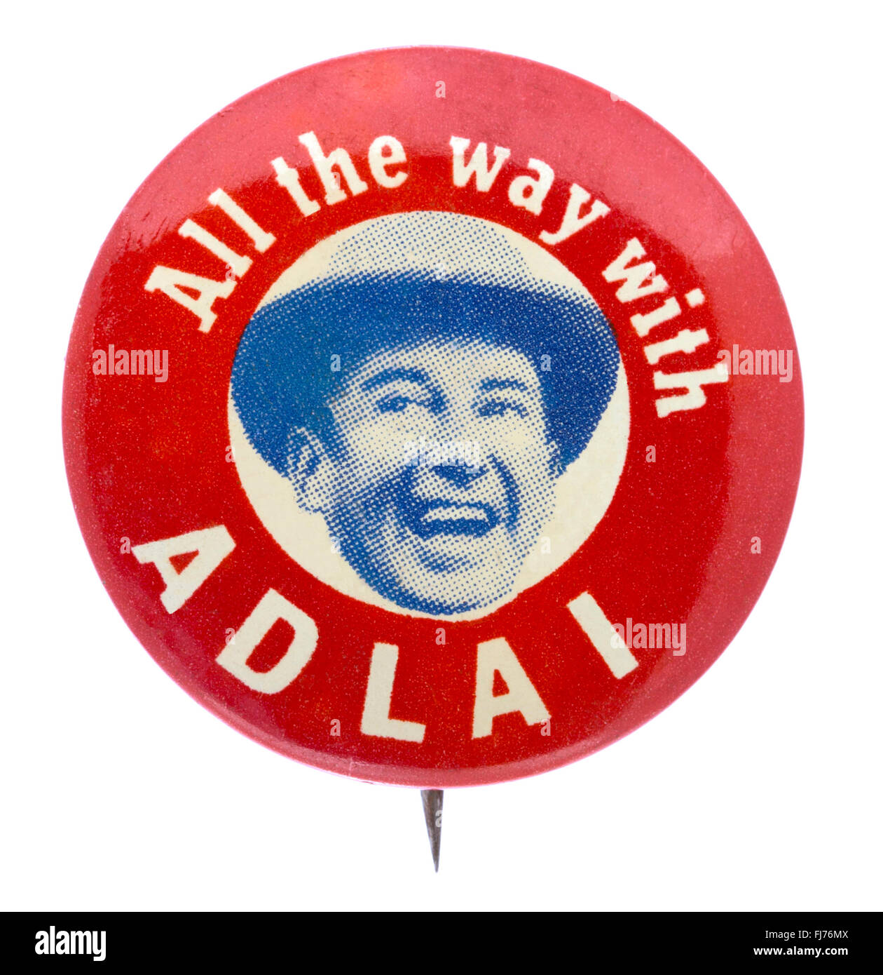 1956 US presidential campaign button for democratic candidate Adlai Stevenson - Stock Image