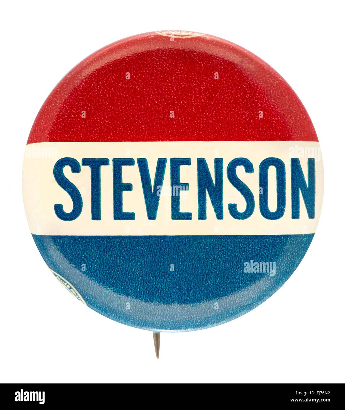 1952 US presidential campaign button for Adlai Stevenson - Stock Image