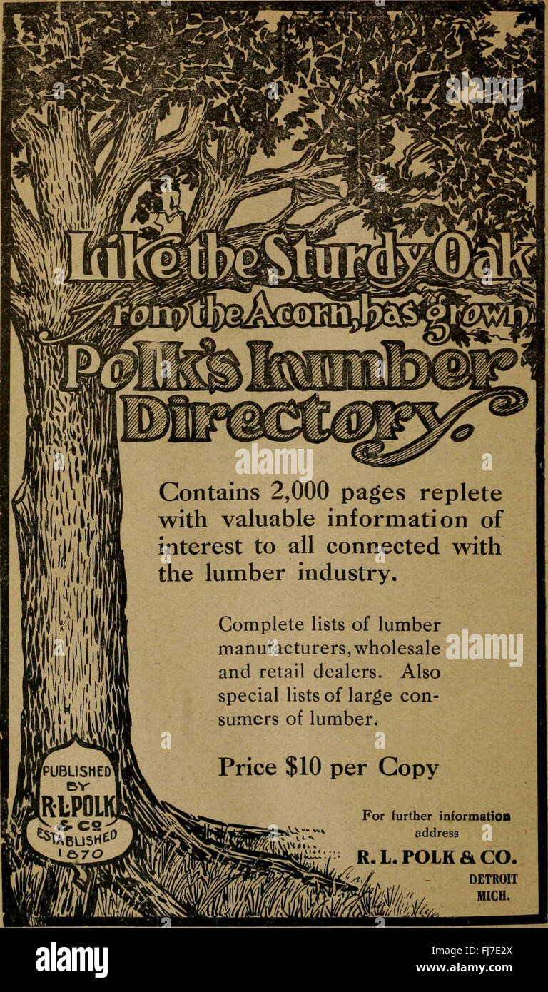 Polk-Husted Directory Co.'s Oakland, Berkeley and Alameda directory (1911) Stock Photo