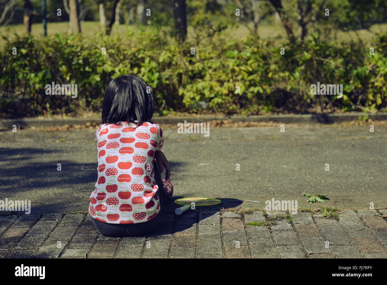 Alone girl - Stock Image