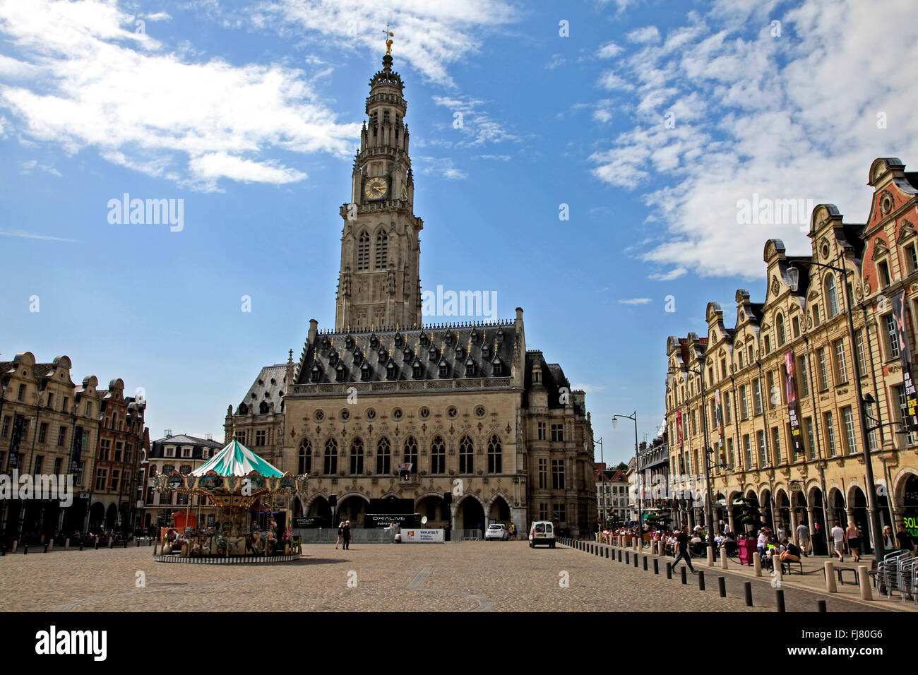 City Hall and Place des Heros, Arras, France Stock Photo