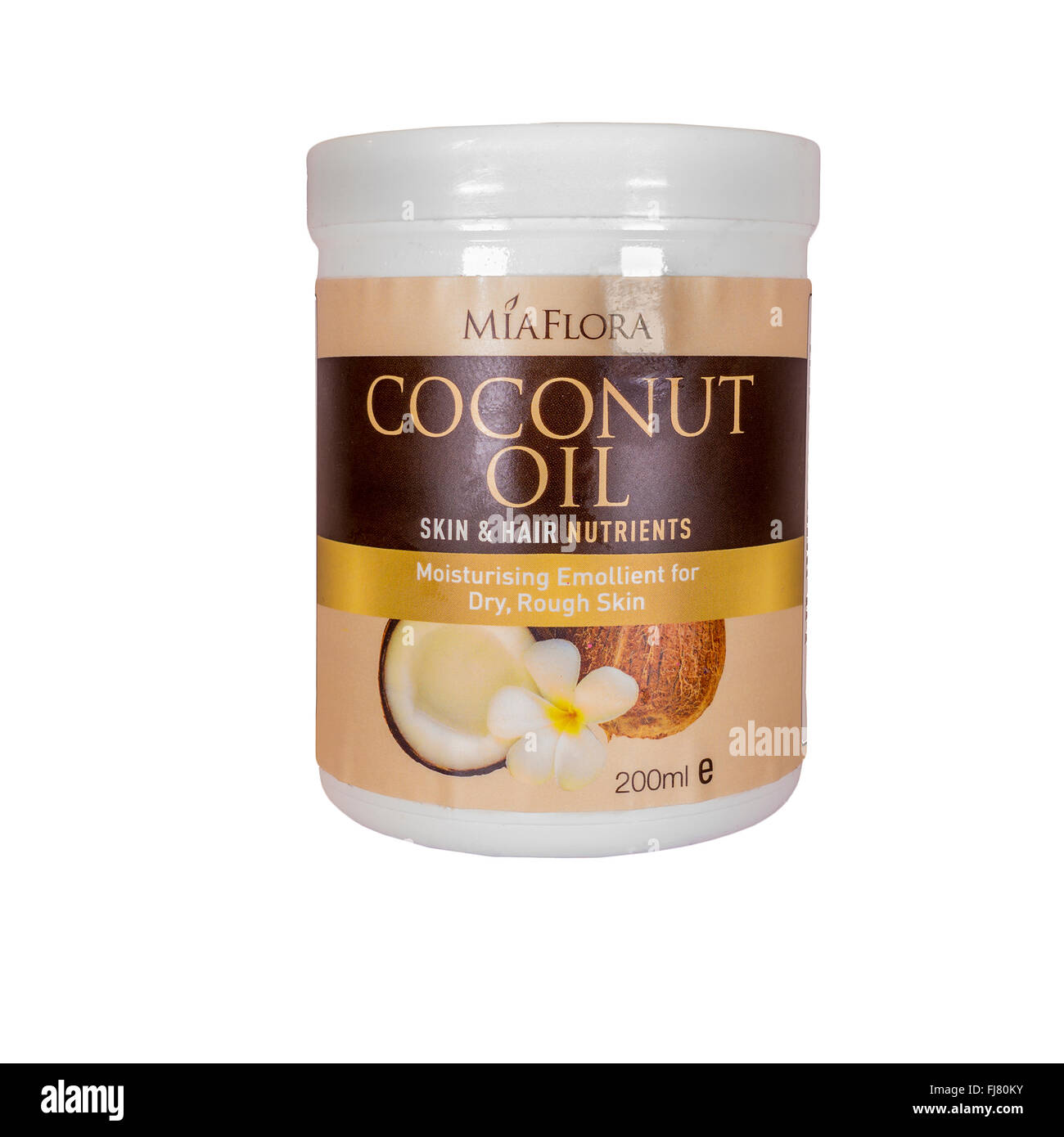 Coconut Oil MiaFlora Skin and Hair Nutrients - Stock Image