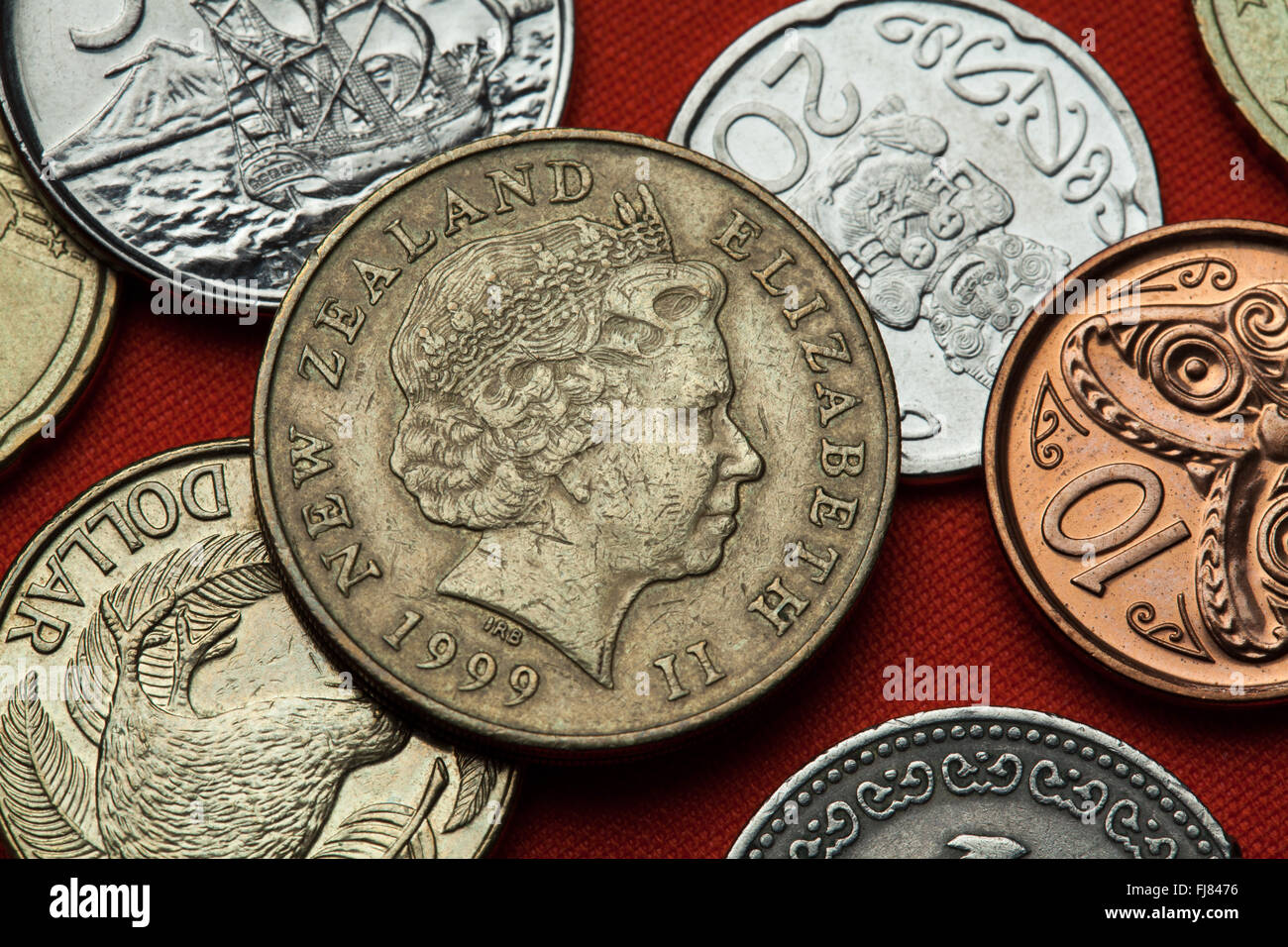 New Zealand Coin Stock Photos & New Zealand Coin Stock