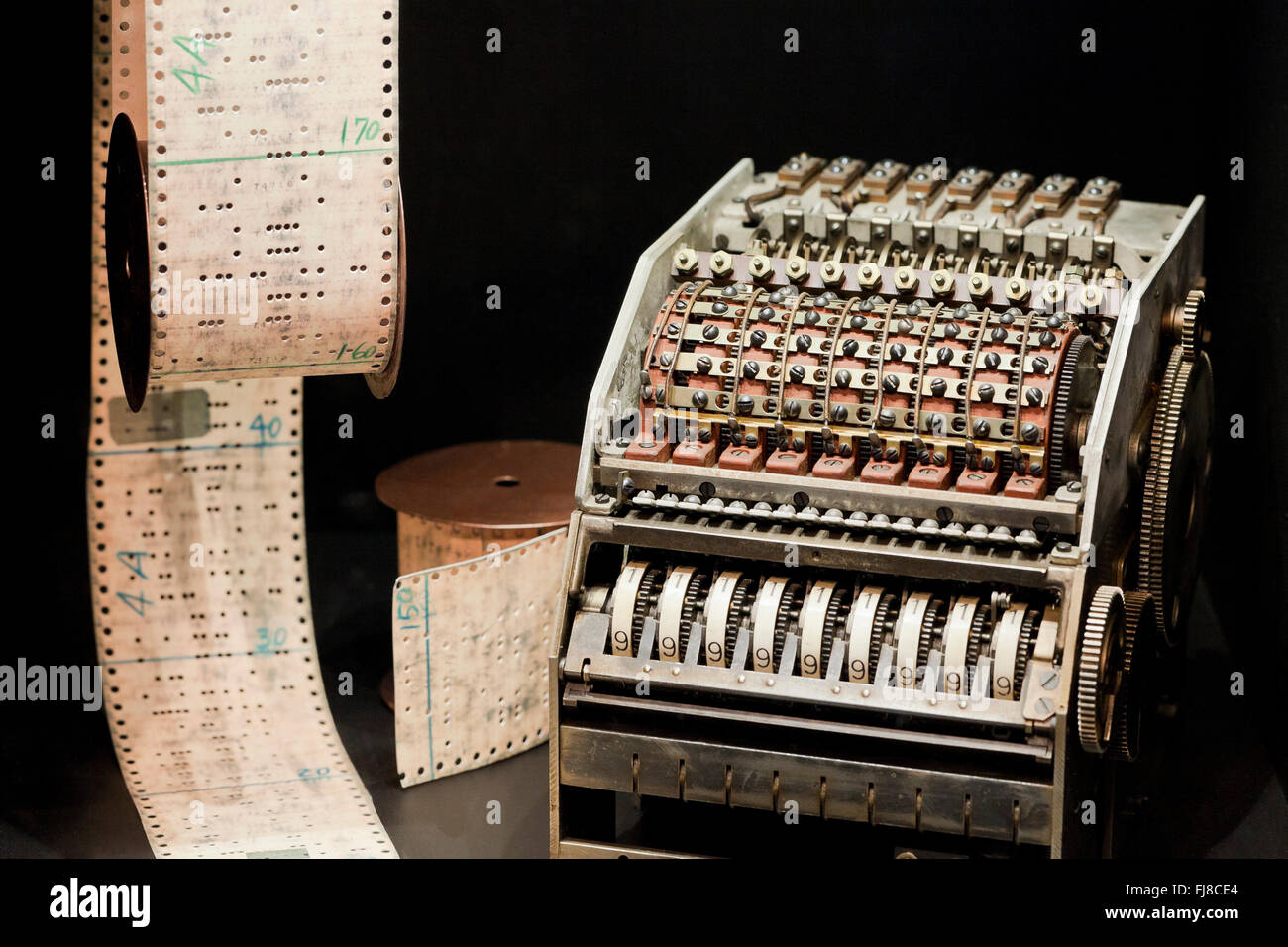 IBM Automatic Sequence Controlled Calculator (Mark I), circa 1944 - US Patent and Trademark Office - USA - Stock Image