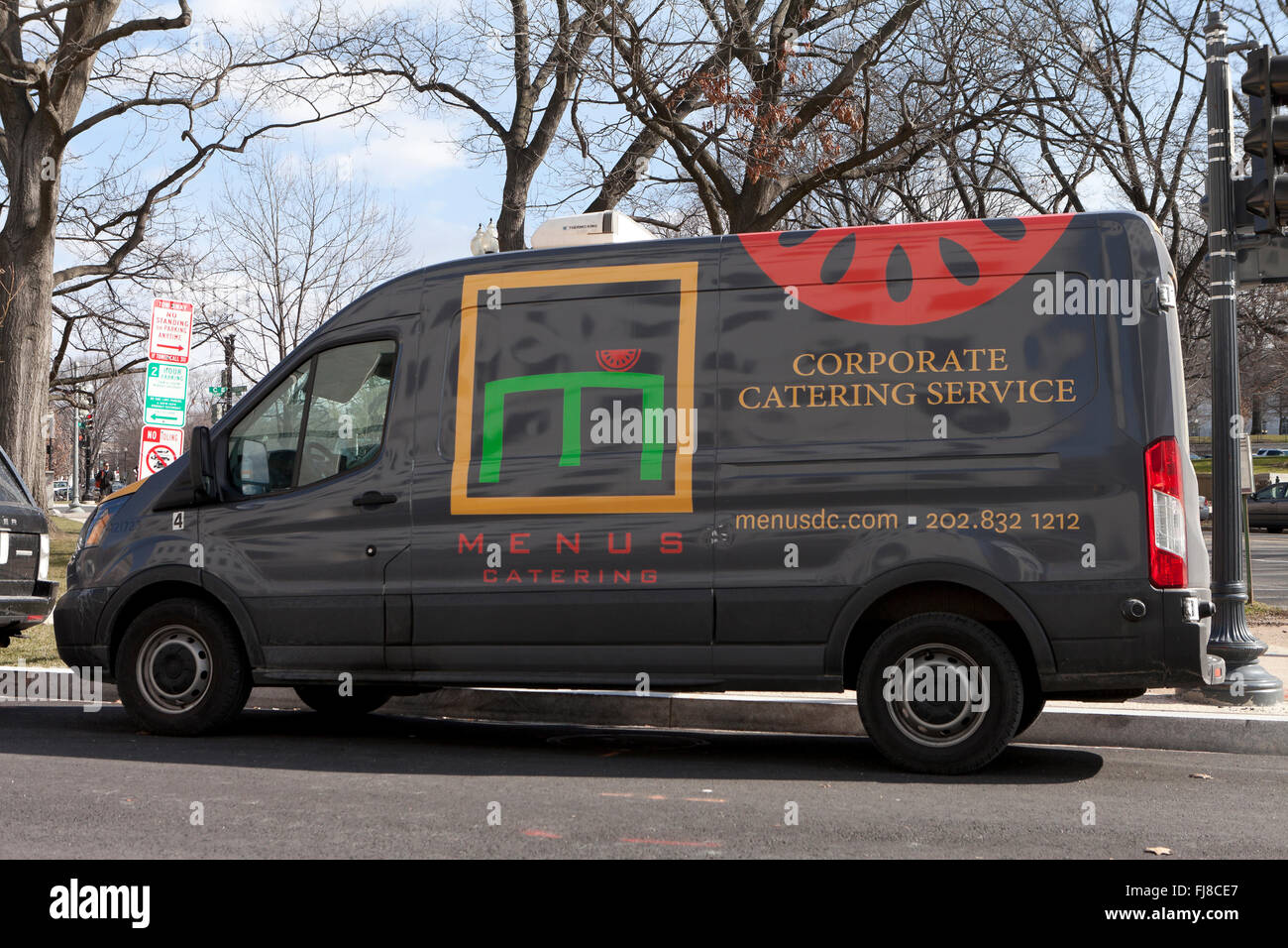 Menus Catering (Corporate catering service) delivery van - USA - Stock Image