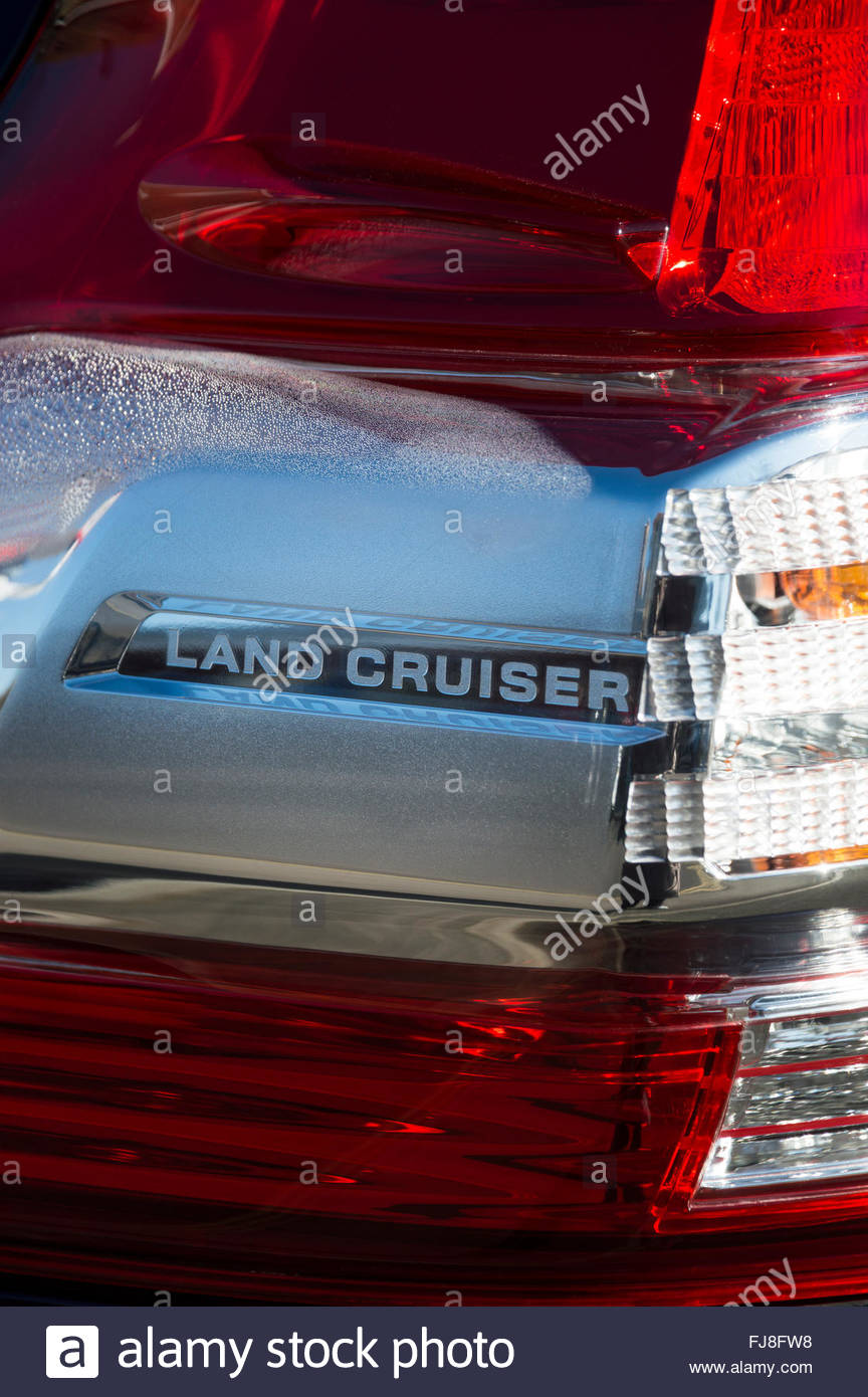 Car Indicator Light Stock Photos Images Tail Brake Signal Cluster Close Up Of The Rear And A Toyota Land Cruiser