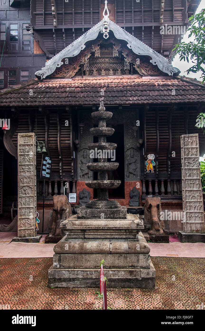 Folklore theatre museum, cochin, kerala, india, asia - Stock Image
