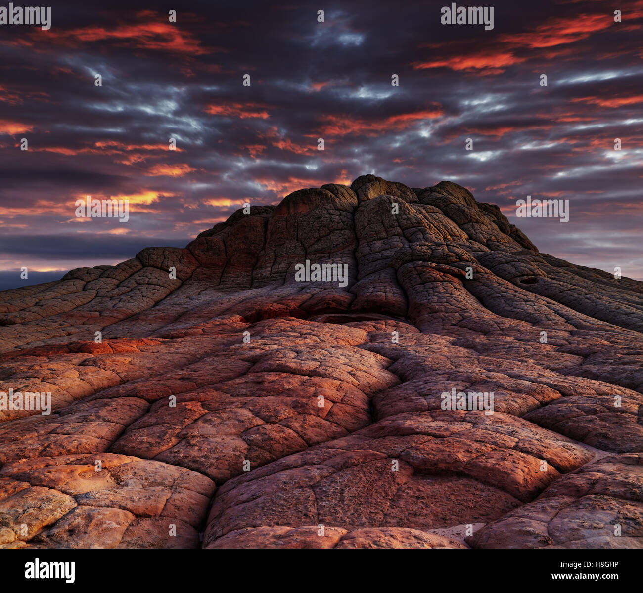 White Pocket rock formations, Vermilion Cliffs National Monument, Arizona, USA - Stock Image