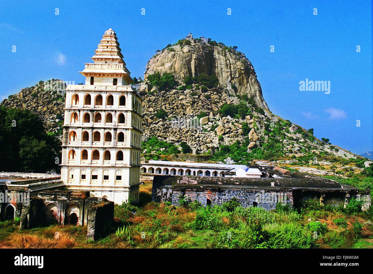 Gingee fort, tiruvannamalai, tamilnadu, india, asia - Stock Image