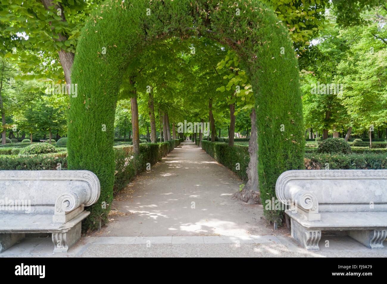 Aranjuez, Comunidad de Madrid, Spain. Jardín de la Isla. - Stock Image
