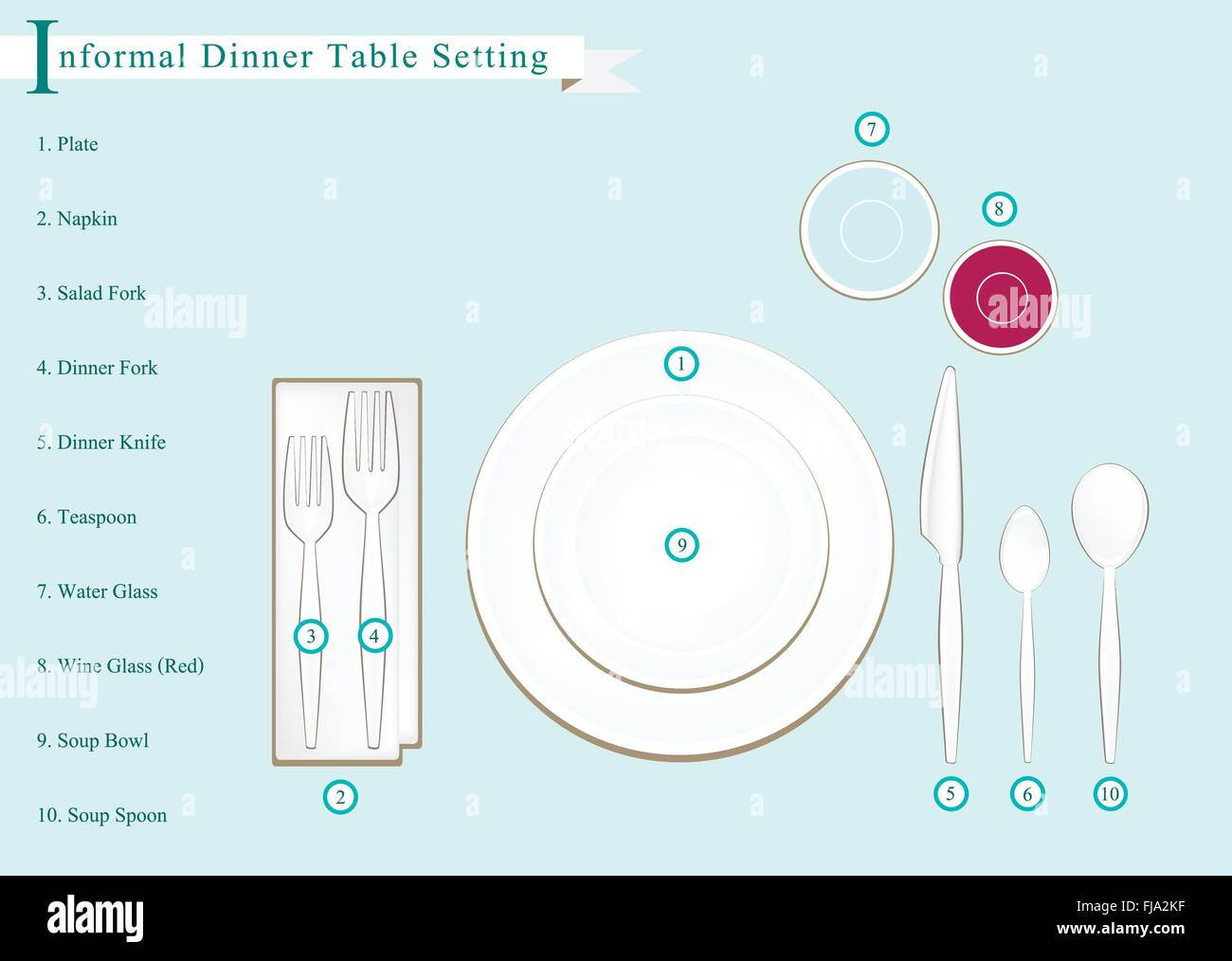 Formal Dinner Business Dinner or Formal Dinner Place Setting Preparing for Special Occasions.  sc 1 st  Alamy & Formal Dinner Business Dinner or Formal Dinner Place Setting Stock ...